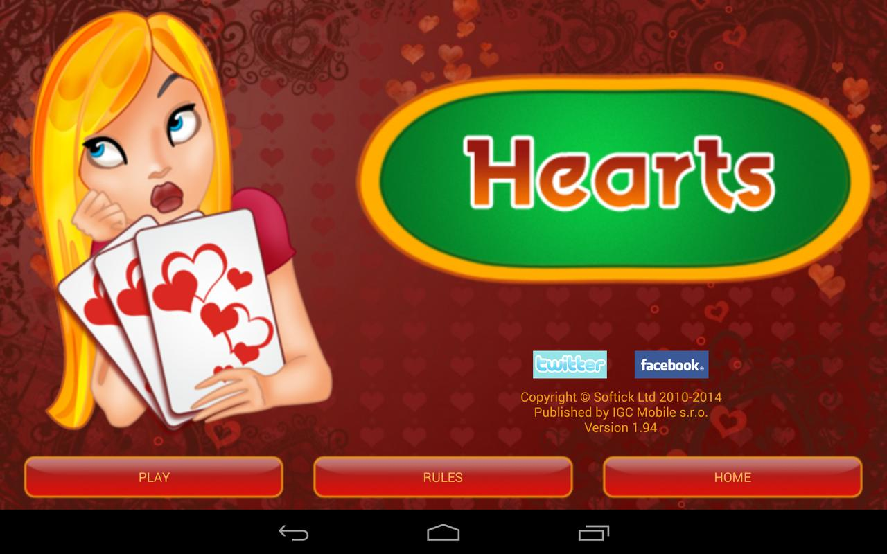 Hearts Deluxe Game