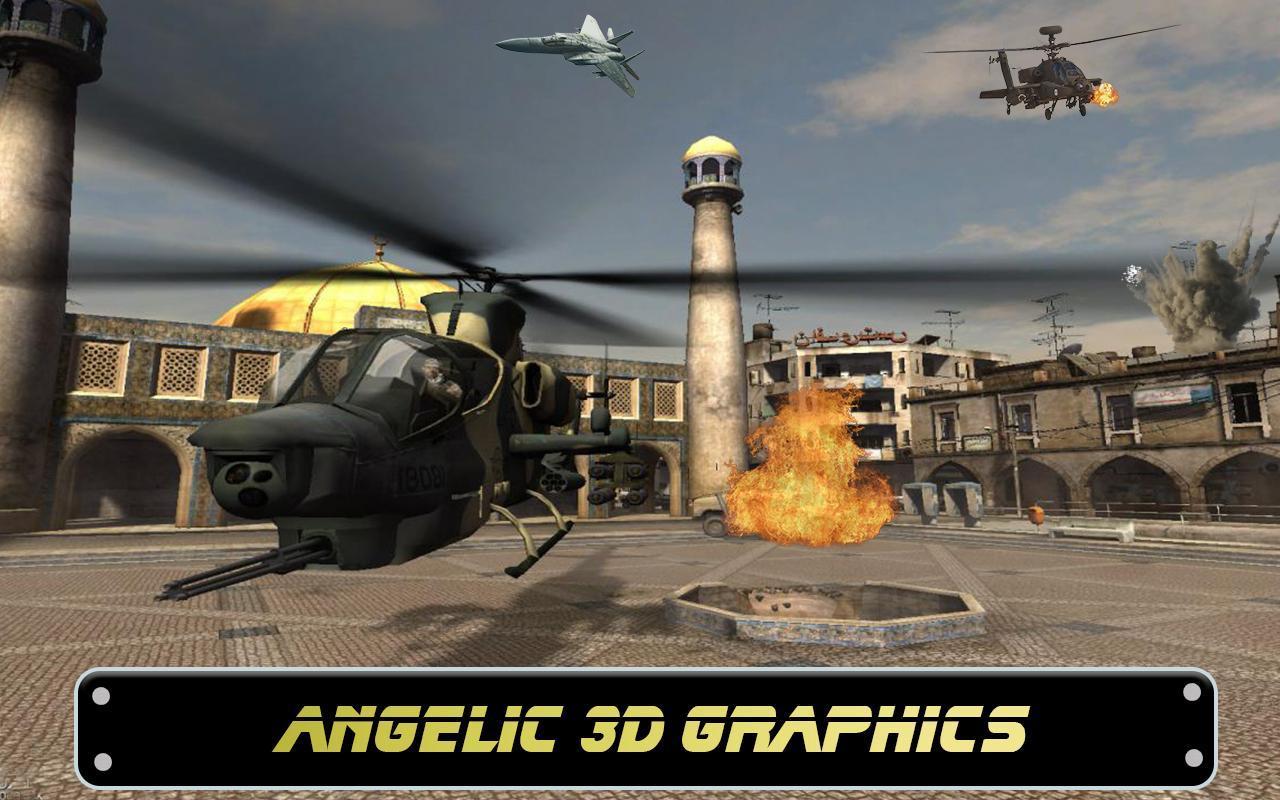 Anti terrorist mountain heli strike & fps combat free download.
