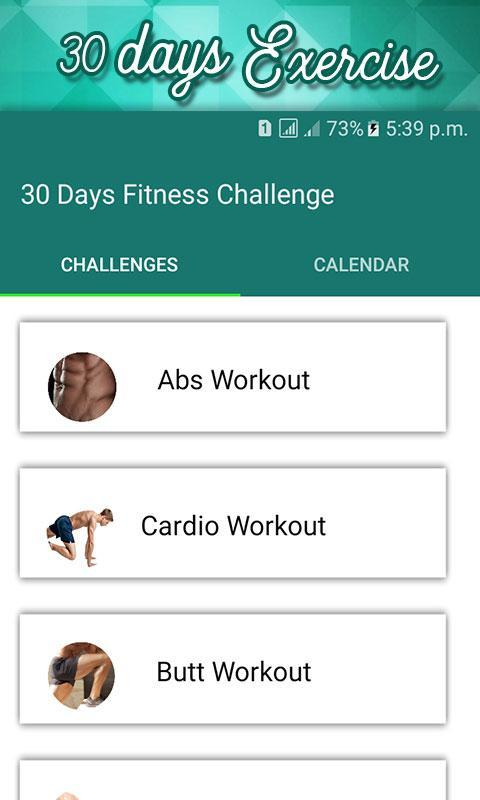 30 Day Fit Challenge Workout Lose Weight Trainer Poster