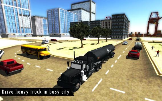 Oil Tanker Fuel Transporter 3D screenshot 1
