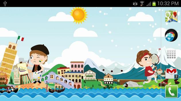 Cute Little World LWP Free apk screenshot