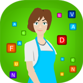 Andys Words On Candy. Free  words  puzzle game icon