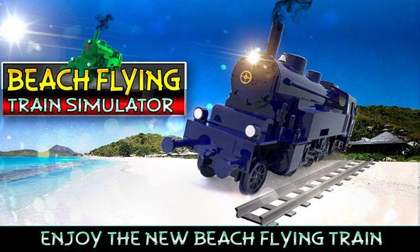 Beach Flying Train Simulator poster