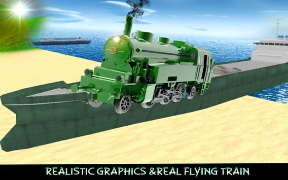 Beach Flying Train Simulator apk screenshot