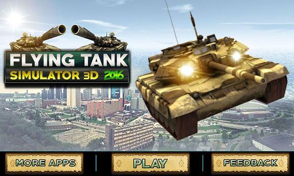 Flying Tank Simulator 3D 2016 poster