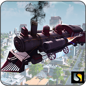 Flying Train Driver 3D 2016 icon