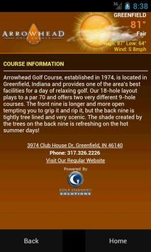 Arrowhead Golf Course apk screenshot
