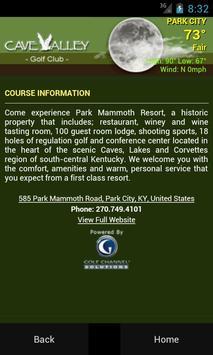 Cave Valley Golf Club apk screenshot