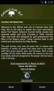 Colonial Oaks Golf Club apk screenshot