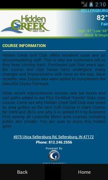 Hidden Creek Golf Club apk screenshot