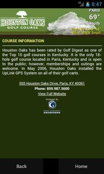 Houston Oaks Golf Course apk screenshot