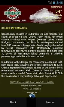 Klein Creek Golf Club apk screenshot