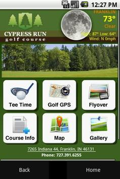Cypress Run Golf Course poster