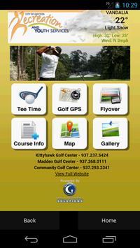 Dayton Ohio Golf poster