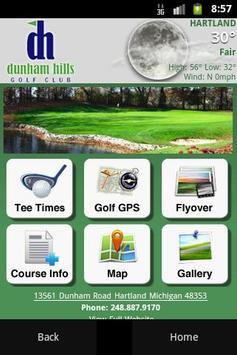Dunham Hills Golf Club poster