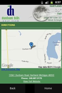 Dunham Hills Golf Club apk screenshot