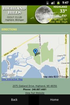 Highland Hills Golf Course apk screenshot