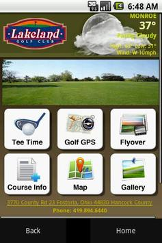 Lakeland Golf Course poster