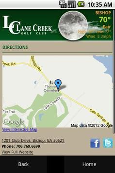 Lane Creek Golf Club apk screenshot