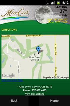 Moss Creek Golf Club apk screenshot