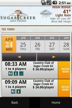 Ssugar Creek Golf Course screenshot 1