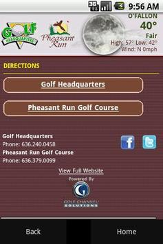 Pheasant Run Golf Course apk screenshot