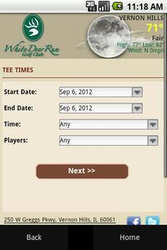 White Deer Run Golf Club apk screenshot