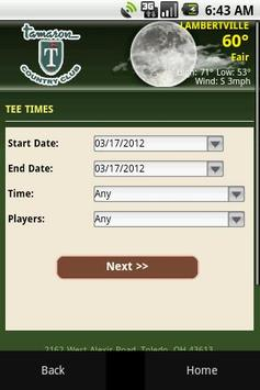 Tamaron Country Club apk screenshot