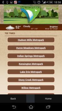 Metroparks Golf apk screenshot
