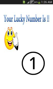 Poster Lucky Number