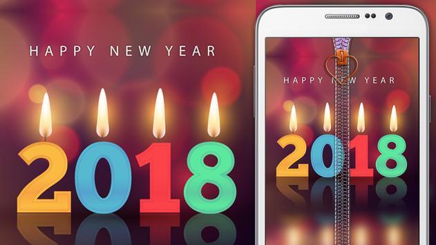 New Year 2018 Zipper Lock poster