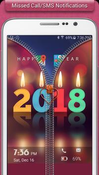 New Year 2018 Zipper Lock apk screenshot