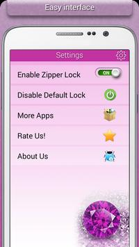 Glitter Zipper Lock apk screenshot