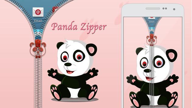 Panda Zipper Lock poster