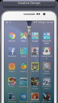 Transparent Zipper Lock apk screenshot