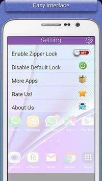 Transparent Zipper Lock screenshot 4