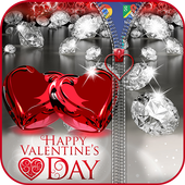 Valentines Love Zipper Lock icon