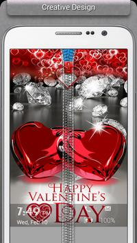 Valentines Love Zipper Lock apk screenshot