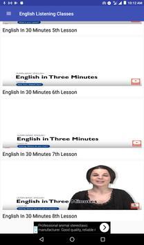 English Listening Classes poster