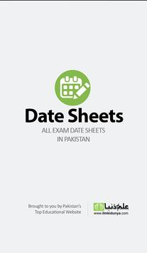 Exam Date Sheets 2018 poster
