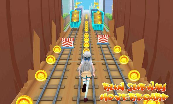 Run Subway Hoverboard poster