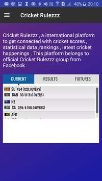 Cricket Rulezzz apk screenshot