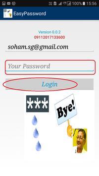 Easy Password and PIN apk screenshot
