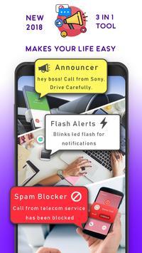 Caller Name Announcer, SMS Reader & Calls Blocker poster