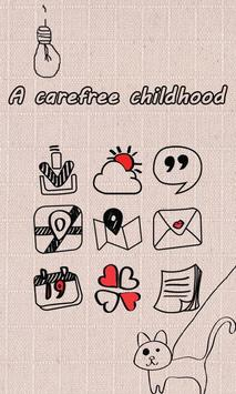 A carefree childhood Theme apk screenshot