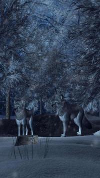 Wolves 3D Live Wallpaper screenshot 2