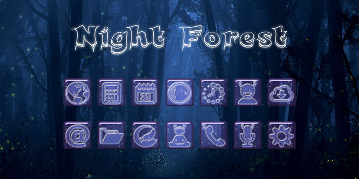 Night Forest - Solo Theme poster