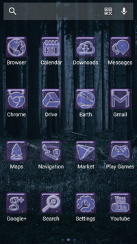 Night Forest - Solo Theme screenshot 2