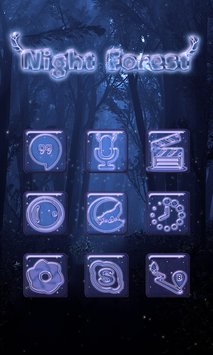 Night Forest - Solo Theme screenshot 3