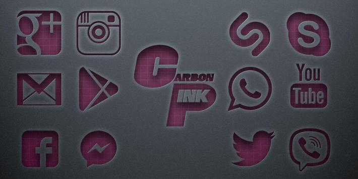 Carbon Pink Solo Launcher Theme poster
